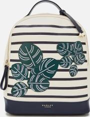 Be Leaf In Yourself Medium Backpack Flapover Chalk