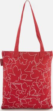 Linear Dog Medium Tote Bag Claret