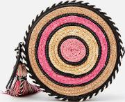 Straw Circle Cross Body Bagulti