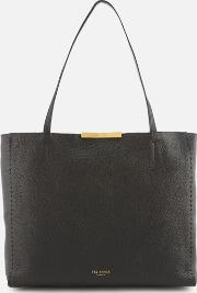 Caullie Bow Detail Soft Shopper Bag