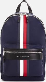 Elevated Backpack Stripe Tommy Navy