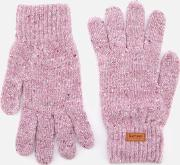 Donegal Knitted Gloves Lilac