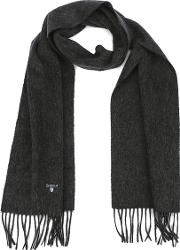 Plain Lambswool Scarf Charcoal