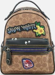 Disney X Coach Coated Canvas Snow White Campus Backpack 23 Tanmulti