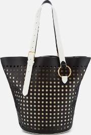 Eastwest Belted Perforated Tote Bag Ivory