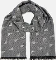 Woven Logo Scarf Antracite