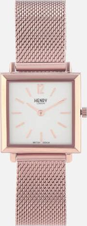Heritage Square Link Watch Rose