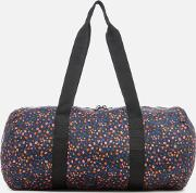 Packable Duffle Bag Black Mini Floral