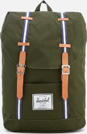 Retreat Backpack Forest Veggie Tan Leather