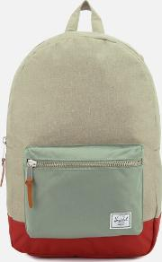 Settlement Backpack Light Khaki Crosshatchshadowbrick Red