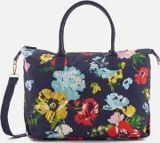 Kembry Printed CanvaWeekend Bag French Navy Posy