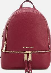 Rhea Zip Medium Backpack Mulberry