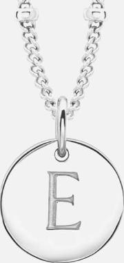 Initial Charm Necklace E
