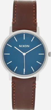 The Porter Leather Watch Navy