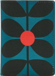 Sixties Stem Vinyl Travel Passport Cover Kingfisher