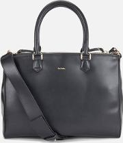 Leather Large Double Zip Tote