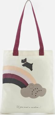 If You Want A Rainbow Canvas Tote Bag