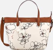 Linear Flower Medium Multiway Tote Bag Chalk