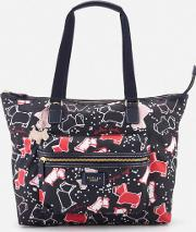 Speckle Dog Large Work Tote Bag Ink