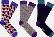 Archway Three Pack Sock Gift Set Assorted