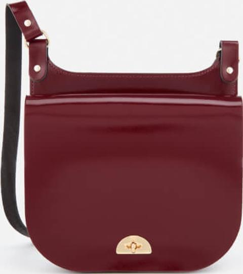 21374f6b93df the cambridge satchel company Conductor s Bag Oxblood Patent