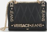Quilted Logo Chain Handle Cross Body Bag
