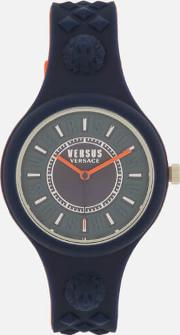 Fire Island Bicolor Silicone Watch Navyred