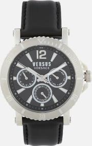 Steenberg Leather Strap Watch Silver