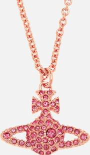 Grace Br Pendant Necklace Rose Crystal
