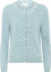 Beaded Wool And Cashmere Cardigan