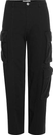 Chisum Cropped Cotton Trousers