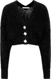 Cropped Mohair Blend Cardigan