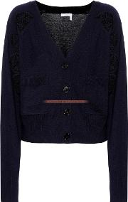 Lace Panelled Wool Cardigan