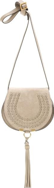 Marcie Small Suede Shoulder Bag
