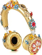 Exclusive To Mytheresa.com Embellished Metallic Leather Headphones
