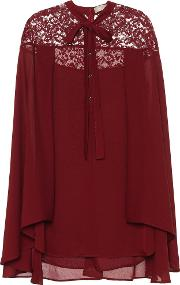 Silk Blend Blouse With Lace