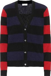Shelly Striped Cashmere Cardigan