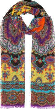 Paisley Printed Cashmere Scarf