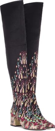 Printed Over The Knee Boots