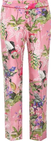 Silk Satin Cropped Trousers