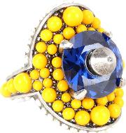 Crystal And Bead Embellished Ring