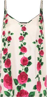 Floral Printed Silk Twill Camisole