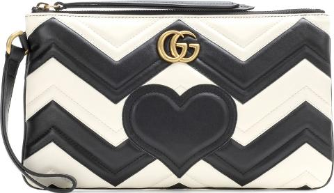 af25f731714b1b gucci Gg Marmont Pouch Matelasse Leather Clutch | Obsessory