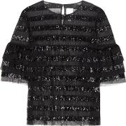 Beau Sequinned Blouse