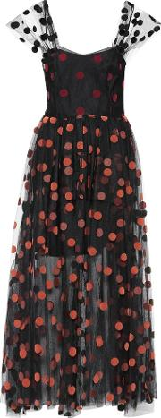 Polka Dotted Tulle Dress