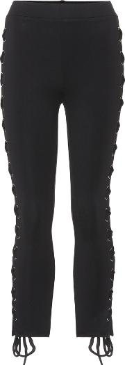 Lace Up Skinny Trousers