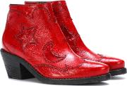 Solstice Zip Leather Ankle Boots