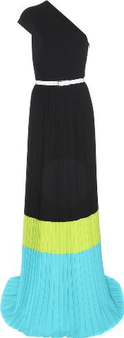 Pleated One Shoulder Dress