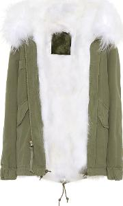 Fur Trimmed Cotton Parka