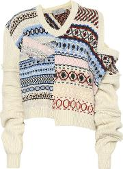 Kyra Patchwork Wool Sweater